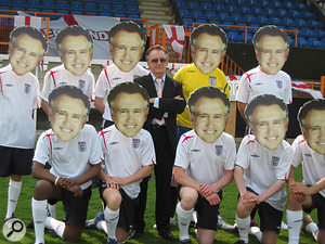 The video shoot for the record took place during a single day at Barnet FC. Spot the real Tony Christie...