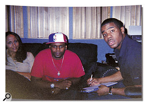 Carl Thomas and Loon writing a new joint in the back of my control room.