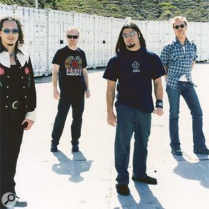 The new-look Metallica (from left): Kirk Hammett, Lars Ulrich, new bass player Rob Trujillo, and James Hetfield.