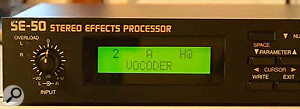 Boss SE-50 on Vocoder patch