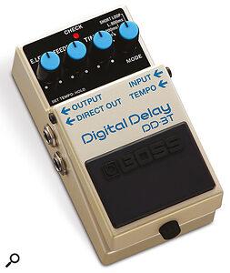 Boss DD-3T digital delay pedal.