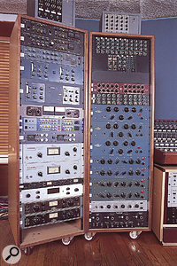 Part of the huge array of outboard in Studio A.