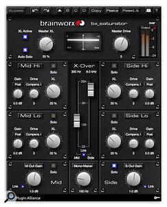 <strong>The plug-in utilises Brainworx's new crossover technology, 'True-Split'.: </strong>Brainworx bx_saturator plug-in