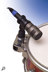 The TSM411 dynamic snare/tom mic, with its heavy-duty fixing hardware.