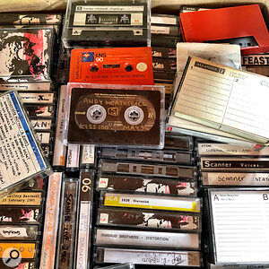 Robin Rimbaud's cassette tapes