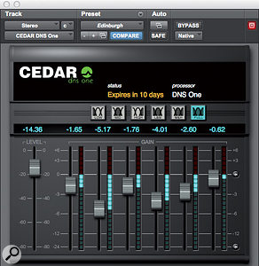 CEDAR Audio studio suite of plug-ins.