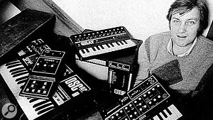 Chris with OSCar, EDP Wasp and Gnat synths.