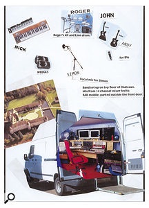 The writing sessions for Seven And The Ragged Tiger took place in a French chateau, and were recorded to a RAK mobile truck, as Ian Little's diagram shows.