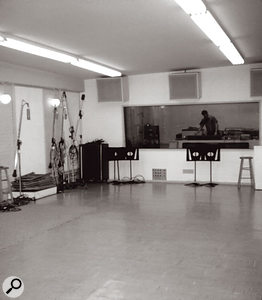The live room in Sunset Sound Studio One had once been a car repair garage, and the floor sloped down towards the control room — originally, to allow used oil to drain away!