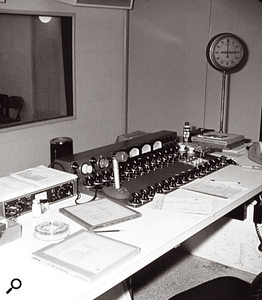 The console in Sunset Sound Studio One was custom-built by Allan Emig, and depended on outboard units for preamps, EQs and dynamics.