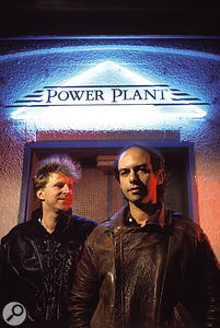 Producer Robin Millar with Mike Pela outside the Power Plant, shortly after the recording of the Promise album.