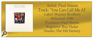 Paul Simon 'You Can Call Me Al' | Classic Tracks