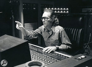 Producer Bones Howe in Wally Heider Studio 3, where 'Aquarius' was tracked.