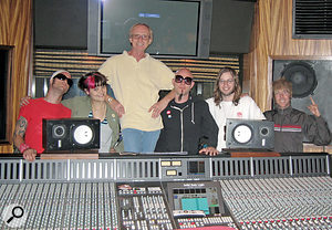 Mike Chapman in his home studio in Conneticut with current project, the Automatic Music Explosion.