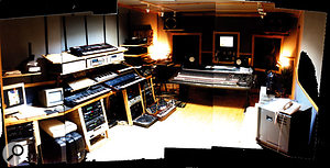 FSOL's Earthbeat studio, after it was expanded in the early '90s.