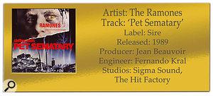 The Ramones 'Pet Sematary'   Classic Tracks