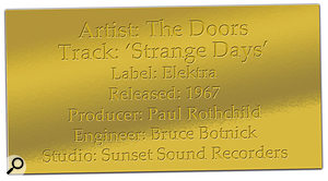 CLASSIC TRACKS: 'Strange Days' avatar.