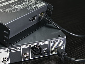 The CAST system allows analogue line and mic-level signals to be routed via low-cost Cat5e (or better) cables.