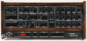 It's good to see so many hardware controls on the Pro 12 encouraging hands-on use. The synth has several knobs and buttons not found on the original Prophet 5, such as Filter and Amplifier Velocity Amount, the dedicated ADR button for the envelope, and switches to assign the frequency and pulse-width of Oscillator B as the modulation destination in the flexible Poly Mod section. And that's without even mentioning the switches for the built-in effects...