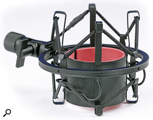 Included with the mic is this elastic-suspension shockmount.