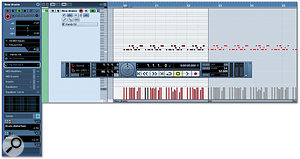 Instrument Tracks appear as MIDI tracks in the Project Window and audio tracks in the mixer, and their Track Inspector shows a combination of MIDI and audio-related panels.