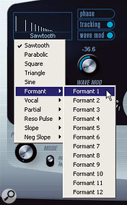 Prologue offers a wide range of waveform types, many of which provide excellent starting points for bass sounds.