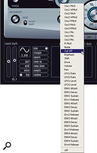 A wide range of parameters can be modulated by Prologue's two LFOs.