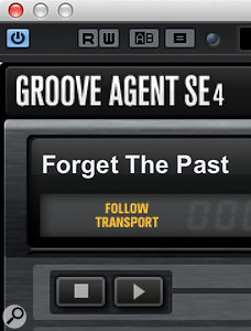Sync'ing Groove Agent SE4's transport with that of Cubase is a  good idea!
