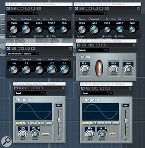 MonoDelay can be combined with other stock Cubase distortion or modulations plug-ins to achieve similar results to some (but not all) ModMachine patches.