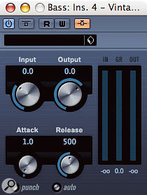 Cubase 4.1 has brought external side-chaining to four of its dynamics plug-ins: Gate, Expander, Compressor and Vintage Compressor.