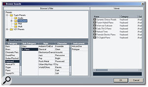 The Browse Sounds dialogue provides one route by which all Track Presets can be viewed.