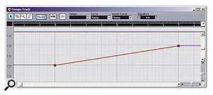 Gradual tempo changes can provide a smoother transition for hit point matching.