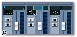 Right-clicking a pan control on a stereo audio channel gives access to three types of panner: Stereo Dual, Combined and Balance.
