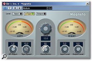 Magneto can be a useful alternative to standard compression. It can also be useful to warm up a DI recording made via the guitar's built-in pickup.