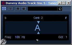 The Tuner and Amp Simulator plug-ins are useful additions for guitarists using Cubase.