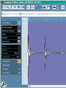 It's now much easier to define the tempo of audio for real-time Warping using Cubase's Sample Editor.