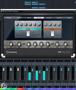 Steinberg's VST Bass Amp plug-in can be a great means of adding character to your lower-mid/mid bass track.