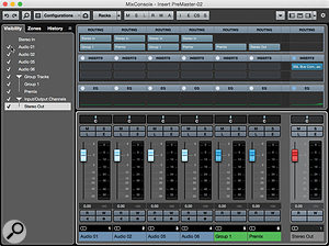 ...and here it is after. All Ihad to do was hit one key and enter atrack name, and the re‑routing of tracks was taken care of automatically.