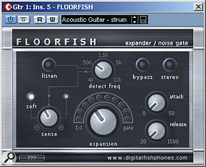 The excellent <em>Floorfish</em> expander/noise gate plug-in — it's free and not at all fishy!