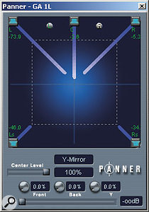 Figure 4: The Surround Panner window.