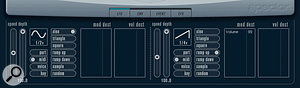 Using an LFO to control Volume can produce some interesting rhythmic effects when combined with a suitable sustained sound such as a pad.