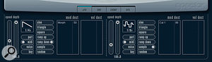 The 'sample and hold' LFO mode can also be used to add a rhythmic element to a sound.