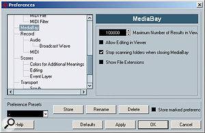 The MediaBay preferences, which also apply to the Loop Browser.