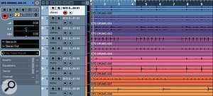 The resulting audio files from the BFD export session are imported into Cubase in the usual way. I detected no problems with the audio quality from this mixdown.