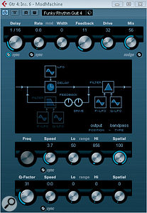 The ModMachine plug‑in can add some excellent delay‑based effects.