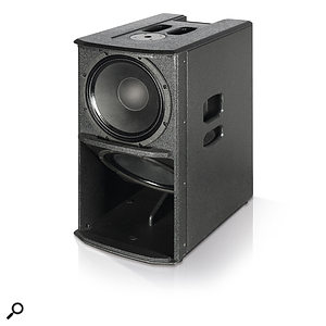 The sub is based around two 12-inch woofers, in what dB Technologies call a 'semi-horn' configuration.