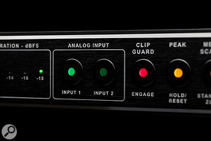 The Convert-AD+ has switchable stereo input pairs, allowing you to, for instance, use the converter for both tracking and summing, or for comparing analogue mastering chains.