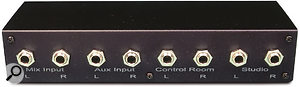 The Dashboard's Audio I/O socket allows you to patch in the Monitor Interface Module, or MIM, so you can make separate audio connections to control-room and studio monitors direct from the Dashboard if you wish.