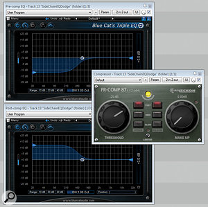 If your compressor provides no side-chain EQ facilities, you can achieve very similar results by using equal and opposite EQ curves pre- and post-compression.