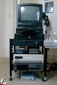 The Miglia Director's Cut conversion box is used to integrate VHS video with Nainita's computer recording system.